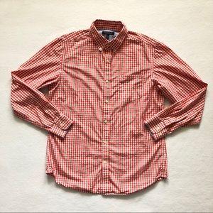 Banana Republic Soft Wash Slim Fit Shirt Red Check